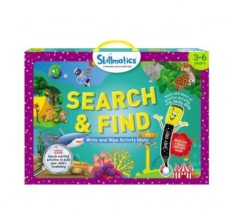 Skillmatics Search & Find Write & Wipe Activity Mats, Multicolor, 3Y+