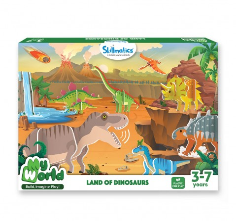 Skillmatics My World Land Of Dinosaurs Building Playset, Multicolor, 3Y+