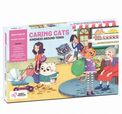 Chalk and Chuckles Caring Cats Kindness Around Town Game,  6Y+