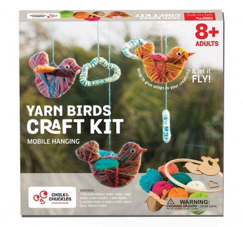 Chalk and Chuckles Yarn Wrapping, String Art Craft Kit,  9Y+