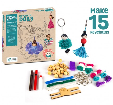 Chalk and Chuckles Art and Craft Keychain Dolls,  9Y+