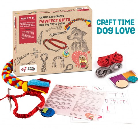 Chalk and Chuckles DIY Dog Collar and Fleece Tug Toy,  9Y+