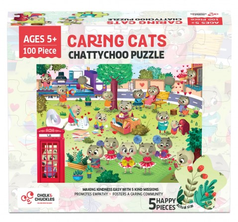 Chalk and Chuckles Chattychoo Cat Jigsaw Puzzle,  4Y+