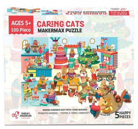 Chalk and Chuckles Makermax Cat Jigsaw Puzzle,  4Y+