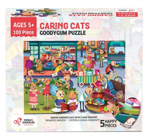 Chalk and Chuckles Goody Gum Cat Jigsaw Puzzle,  4Y+