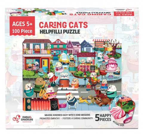 Chalk and Chuckles Helpfilli Cat Jigsaw Puzzle,  4Y+