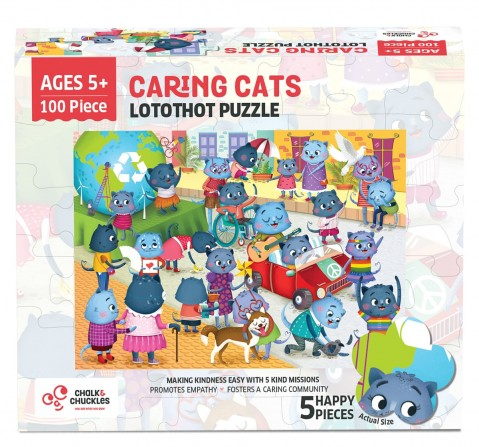 Chalk and Chuckles Lotothot Cat Jigsaw Puzzle,  4Y+