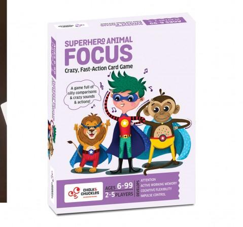 Chalk and Chuckles Superhero Animal Focus Card Game,  6Y+