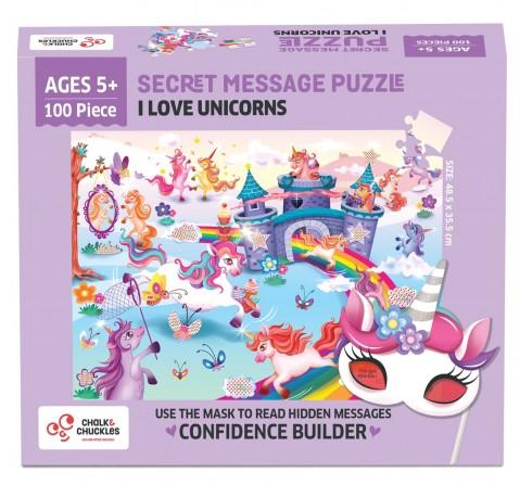 Chalk and Chuckles I Love Unicorns Jigsaw Puzzle,  4Y+