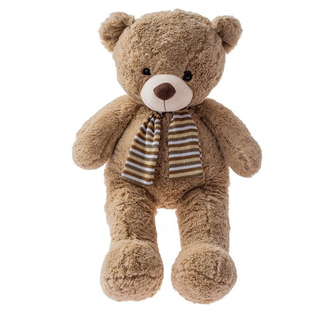 Dimpy Toys Bear With Muffler 70 Cm, Unisex, 3Y+(Multicolour)