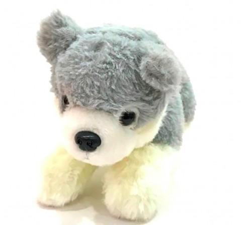 Dimpy Toys Puppy Dog Grey 28 Cm, Unisex, 3Y+(Grey)