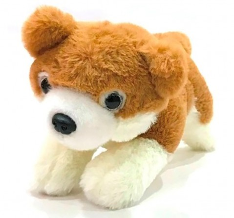 Dimpy Toys Puppy Dog Brown 28 Cm, Unisex, 3Y+(Brown)