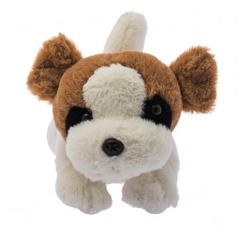 Dimpy Toys Lying Dog Dark Brown 40 Cm, Unisex, 3Y+(Brown)