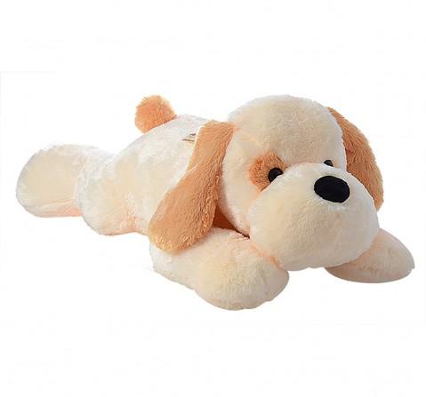 Dimpy Toys Lying Dog Light Brown 55 Cm, Unisex, 3Y+(Brown)