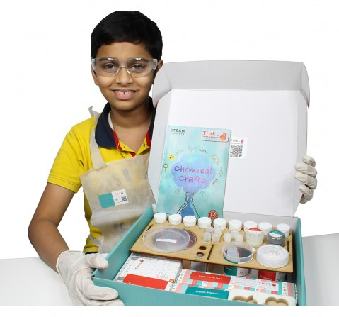 Butterfly Edufields TinkL Chemo Crafts 20+ Chemistry Activities in a Box, 5Y+