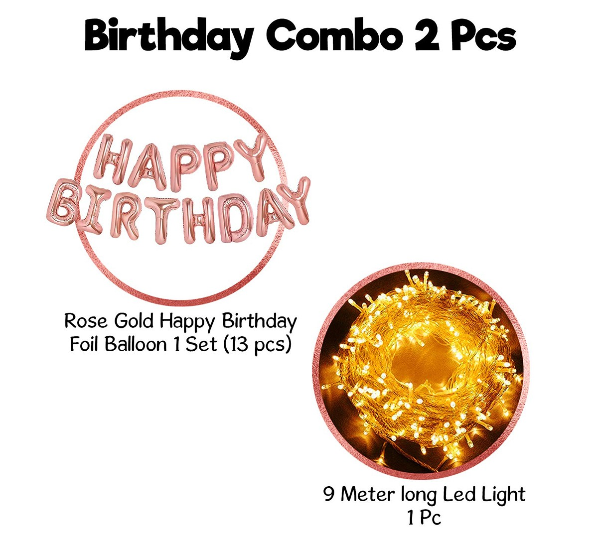 Party Propz Rose G Birthday Foil Balloon, Unisex, 3Y+ (Gold)