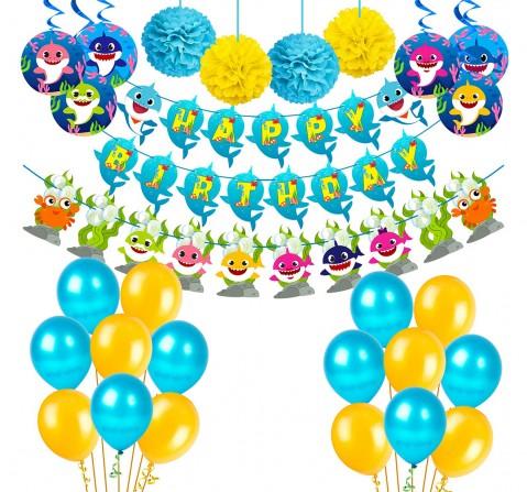 Party Propz Baby Shark Theme Decor Combo, Unisex, 3Y+ (Multicolor)