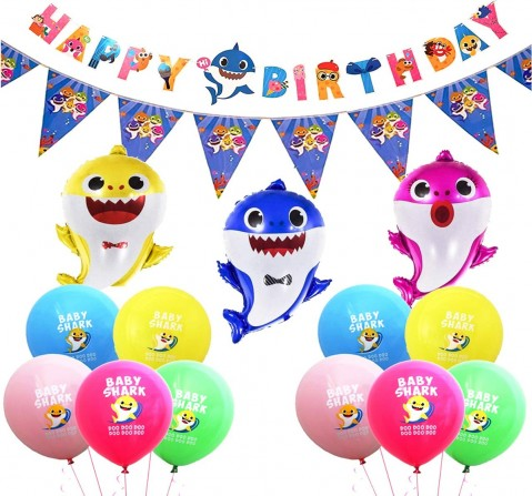 Party Propz Baby Shark Theme Decor Kit, Unisex, 3Y+ (Multicolor)
