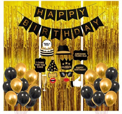 Party Propz Birthday Decor Items 41 Pcs, Unisex, 3Y+ (Multicolor)