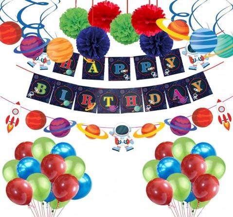Party Propz 41 Pcs Space Theme Combo, Unisex, 3Y+ (Multicolor)