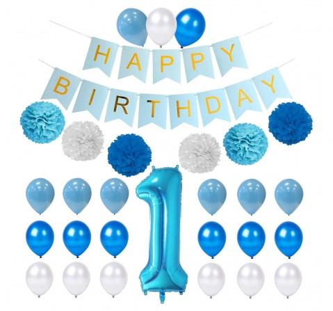 Party Propz 23 Pcs Birthday Decor Kit, Unisex, 1Y+ (Multicolor)