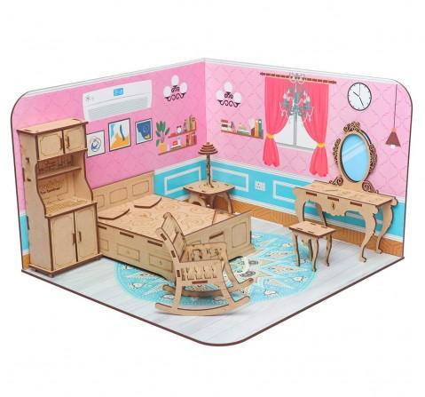 Webby DIY Build & Paint Bedroom, Unisex, 3Y+ (Multicolour)