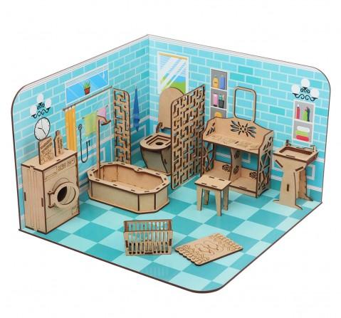Webby DIY Build & Paint Bathroom, Unisex, 3Y+ (Multicolour)