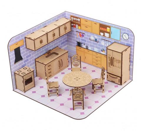 Webby DIY Build & Paint Kitchen, Unisex, 3Y+ (Multicolour)