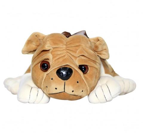Soft Buddies Lying Bull Dog Large, Unisex, 9M+ (Light Brown)