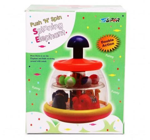 Toyspree Push N Spin Elephant, Unisex, 18M+ (Multicolour)