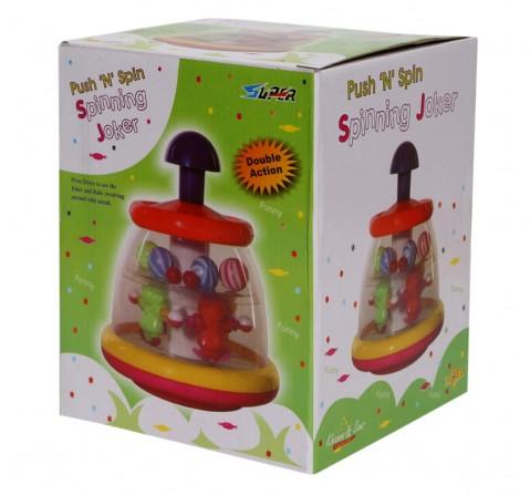 Toyspree Push N Spin Joker, Unisex, 18M+ (Multicolour)