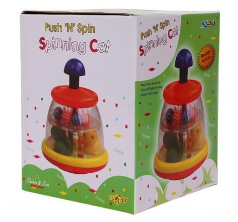 Toyspree Push N Spin Cat, Unisex, 18M+ (Multicolour)
