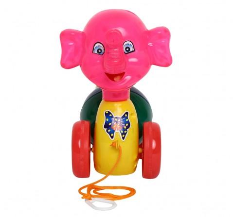 Toyspree Pulling Funny Elephant , Unisex, 18M+ (Multicolour)