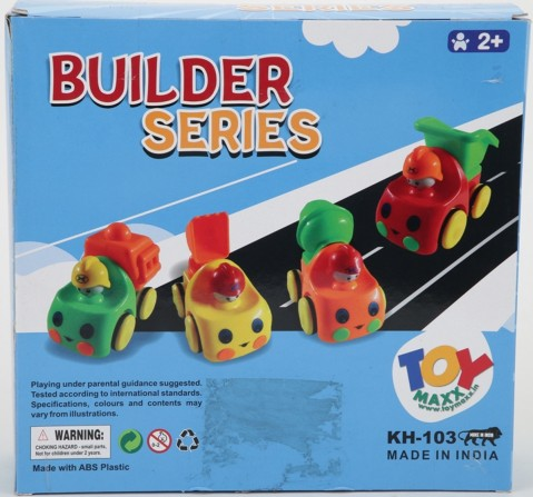 Toyspree Builder Series ( Set Of 4Pc ), Unisex, 18M+ (Multicolour)