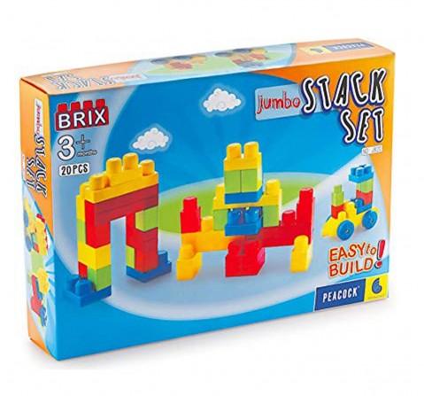 Peacock Toys Jumbo Brix 20, Unisex, 6M+ (Multicolour)