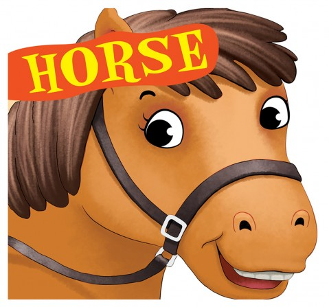 Horse : Cutout Board Book, 10 Pages Book, Board Book