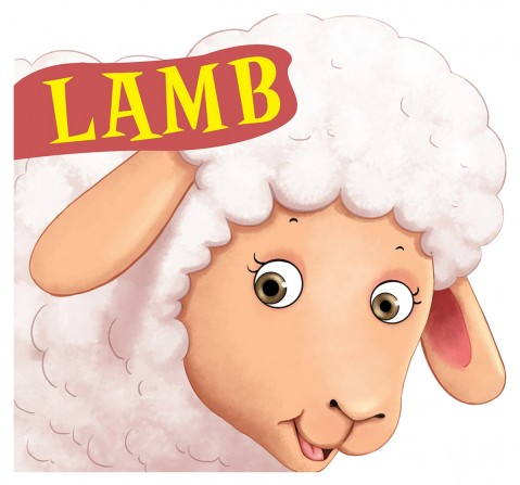 Lamb : Cutout Board Book, 10 Pages Book, Board Book