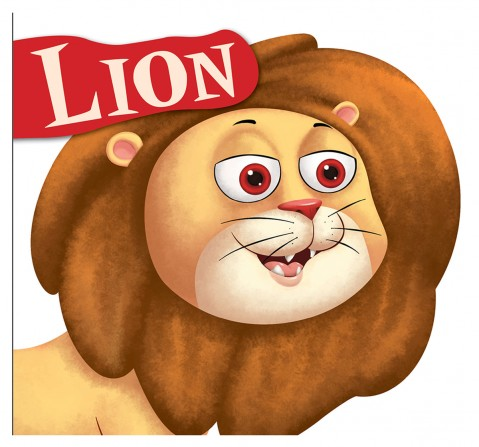 Lion: Cutout Board Book, 10 Pages Book, Board Book