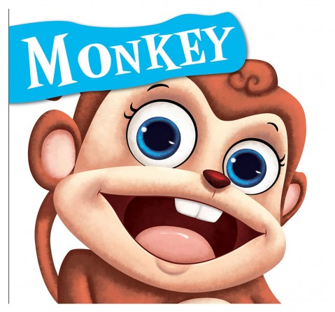 Monkey : Cutout Board Book, 10 Pages Book, Board Book