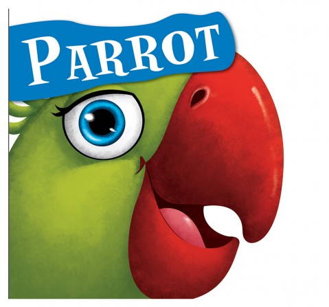 Parrot : Cutout Board Book , 10 Pages Book, Board Book