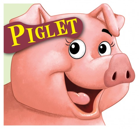 Piglet : Cutout Board Book, 10 Pages Book, Board Book