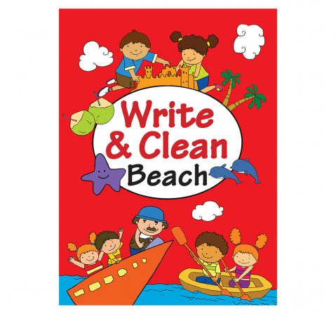 Write And Clean Beach , 16 Pages Book, Paperback