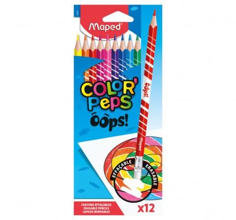 Maped 12 Erasable Colour Pencils, Unisex 7Y+ (Multicolour)
