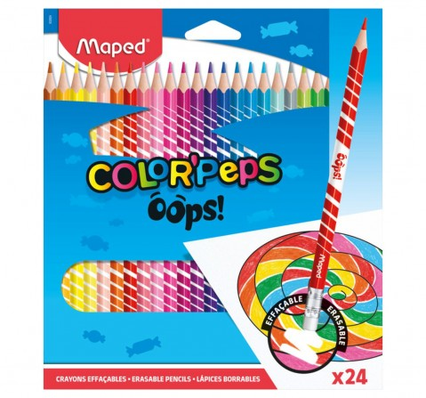 Maped 24 Erasable Colour Pencils, Unisex 7Y+ (Multicolour)