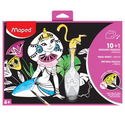 Maped Magic Paint 10 Sheets and 1 Brush, Unisex 7Y+ (Multicolour)