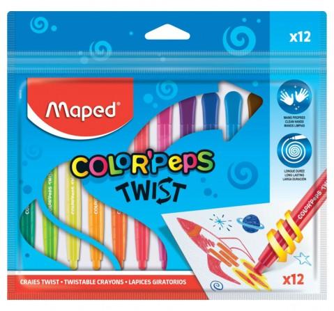 Maped 12 Twist Crayons, Unisex 7Y+ (Multicolour)