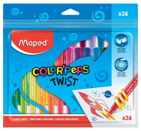 Maped 24 Twist Crayons, Unisex 7Y+ (Multicolour)