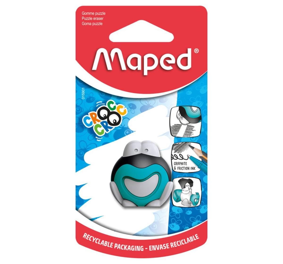 Maped Croc Puzzle Frog Eraser, Unisex 7Y+ (Blue)