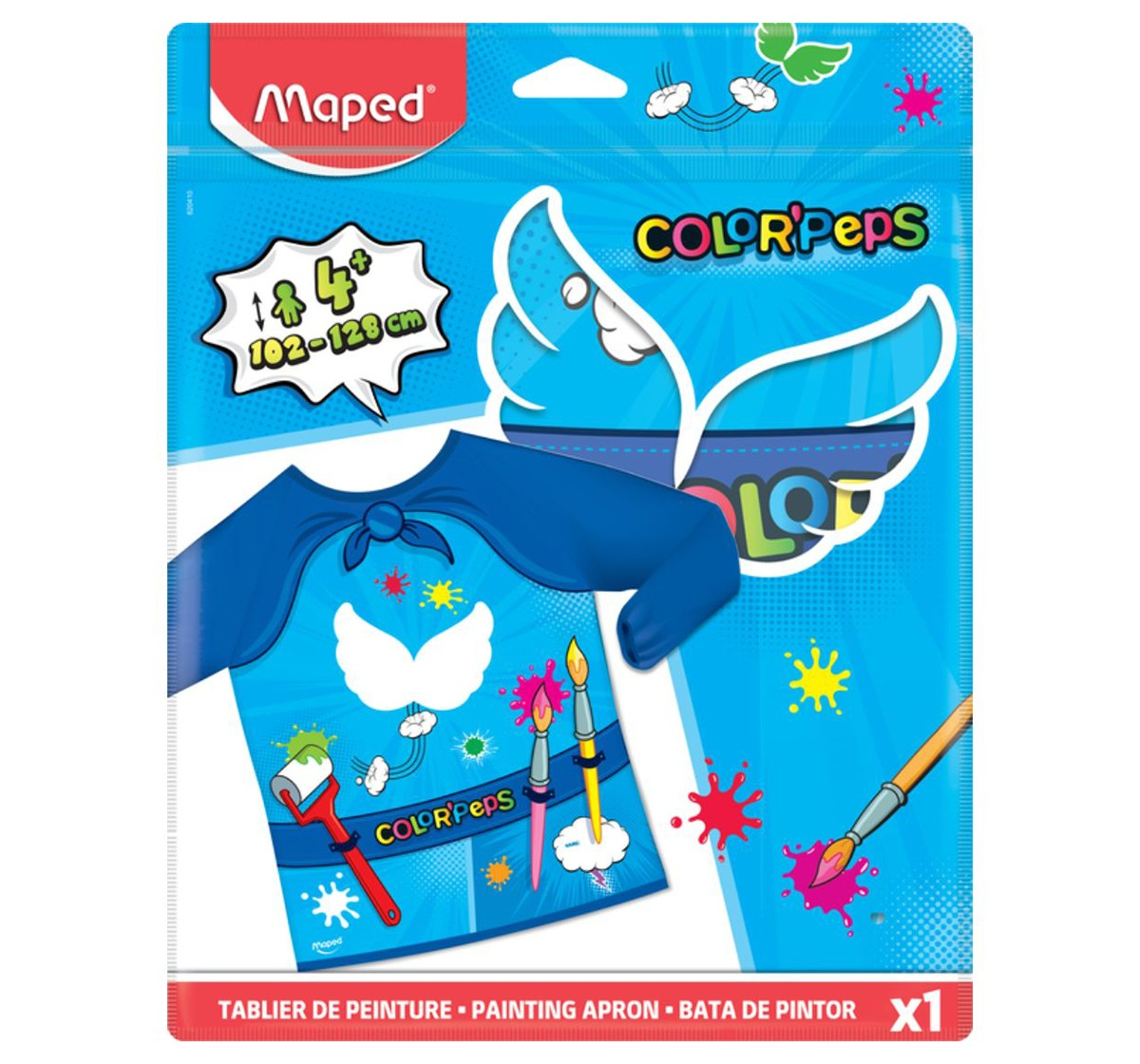 Maped Super Heroes Painting Apron, Unisex 4Y+ (Blue)