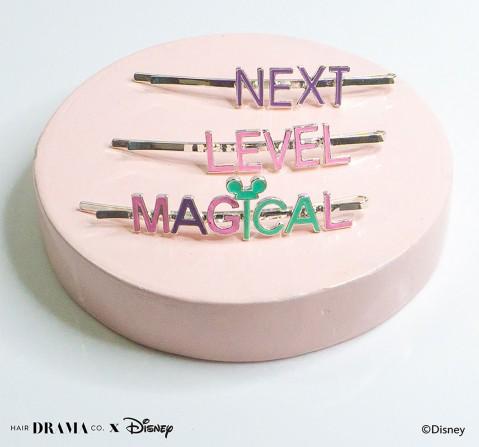 Hair Drama Company Disney Mickey Pins , Set Of 3(One Size), Girls, 9Y+(Multicolor)